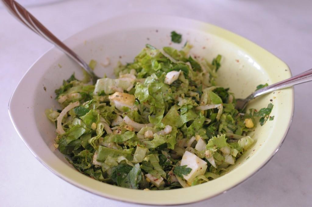 soğanlı yumurta salatası (yarım kuzu)