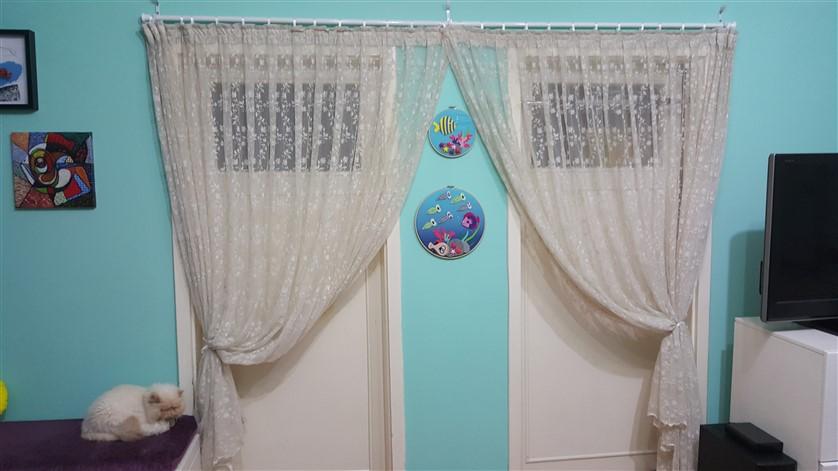 kapıda rustik perde