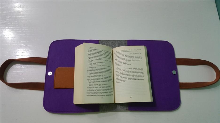 keçe kitap okuma çantası