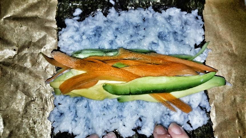 surumi avokado suşi