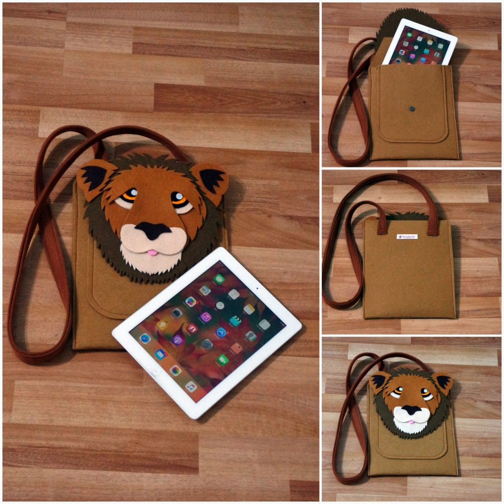 Aslan tablet ipad kılıfı çanta