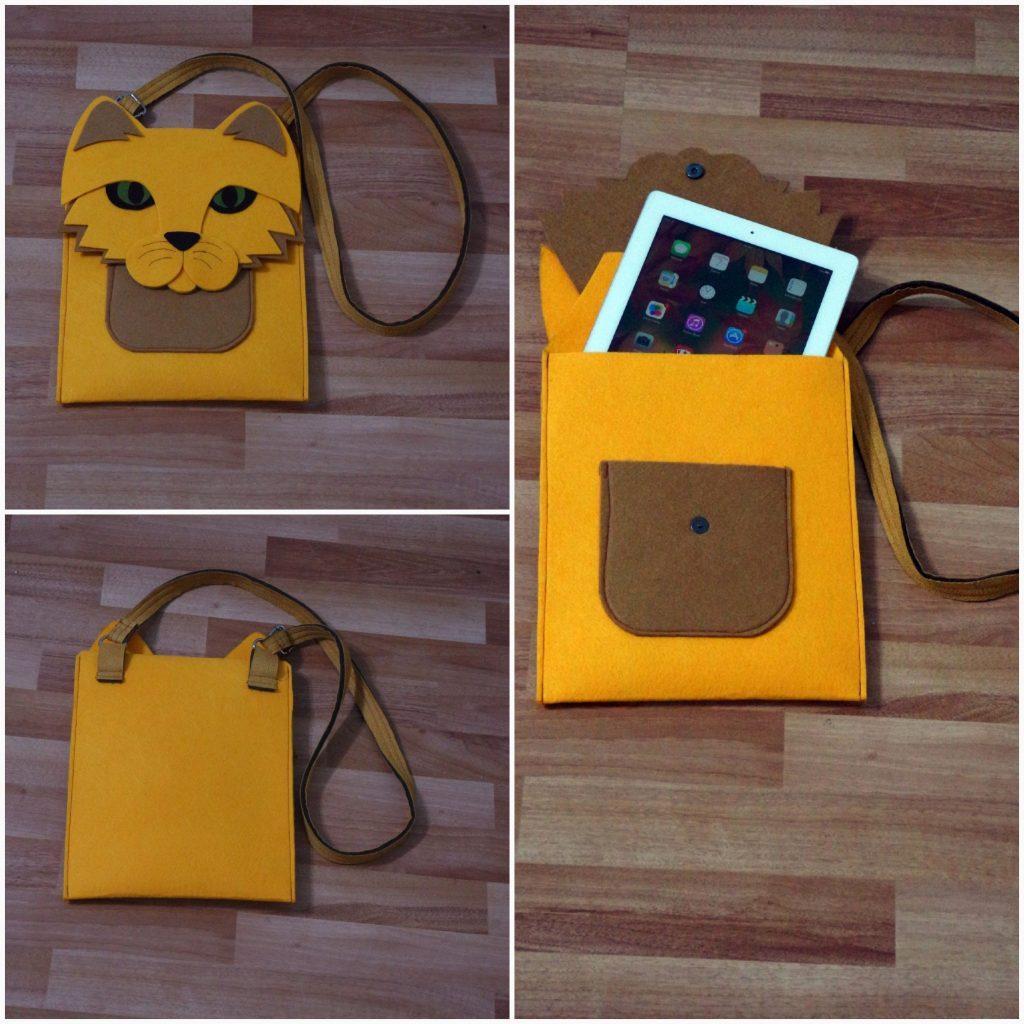 Sarman Kedi ipad tablet kılıfı çanta