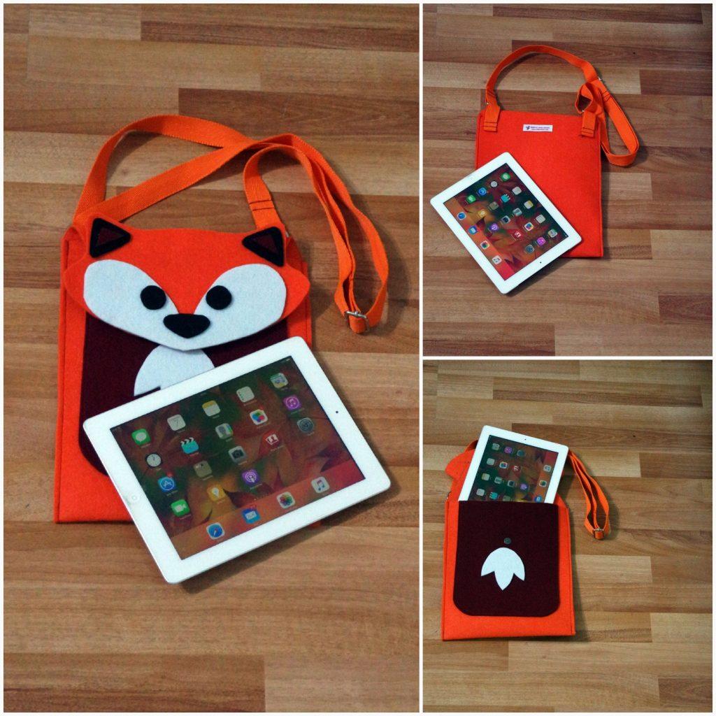 Tilki tablet ipad kılıfı çanta