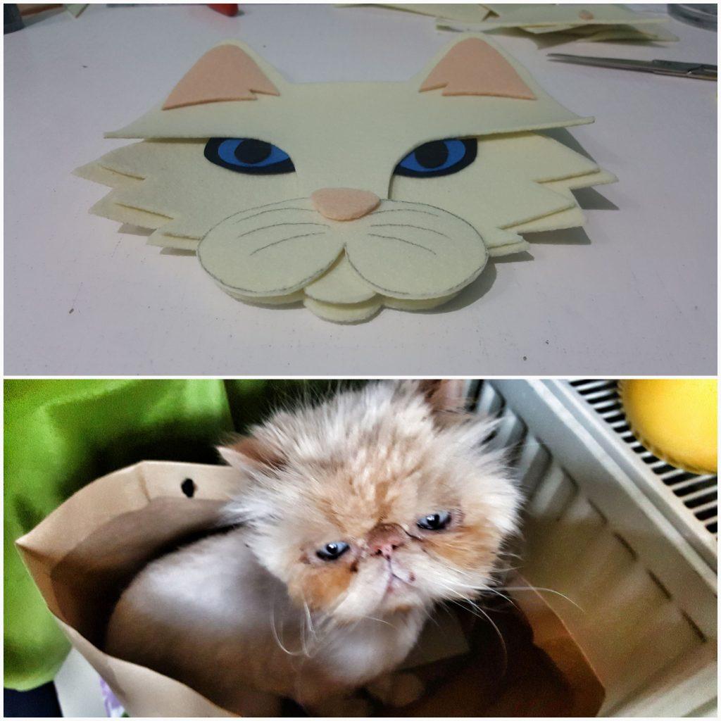 keçe tablet ipad kılıfı kedi